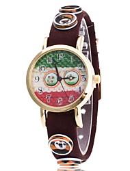 Per donna Orologio da polso Creativo unico orologio Cinese Quarzo Tessuto Banda Ciondolo Casual classe Nero Blu Rosso Marrone Verde Rosa