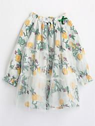 cheap -Girls' Print Blouse,Cotton Fall Long Sleeve White
