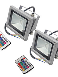 cheap -2 PCS HKV® 10W 900-1000 Lm RGB Waterproof Festoon LED Floodlight Integrate LED AC85-265V