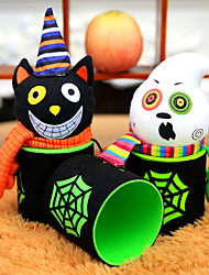 cheap -1PC Design Is Random Gift Candy Jar Halloween Pumpkin Pumpkin Cartoon Food Cans wedding Event & Party Supplies Household Children Can Bin Decor Box