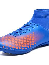baratos -Homens sapatos Couro Ecológico Primavera Outono Solados com Luzes Conforto Tênis Futebol para Atlético Preto Vermelho Verde Azul