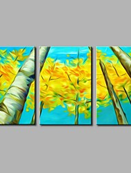 Hand-Painted Botanical Horizontal Panoramic,Artistic Nature Inspired Birthday Modern/Contemporary Office/Business Christmas New Year's