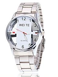 Women's Dress Watch Skeleton Watch Wrist watch Chinese Quartz Large Dial Alloy Band Charm Elegant Casual Black Silver