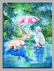 economico -amicizia decorazione della parete dipinti a mano dipinti ad olio contemporanei opere d'arte moderna arte della parete