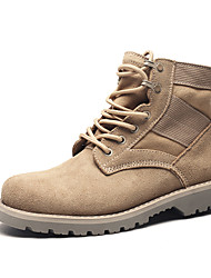 Men's Boots Formal Shoes Comfort Snow Boots Fashion Boots Combat Boots Fall Winter Nappa Leather Outdoor Work & Safety Lace-up Flat Heel