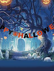 Décoration murale PVC Antique Artistique Halloween Art mural,1