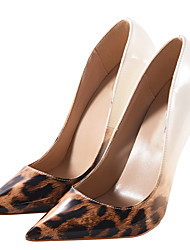 cheap -Women's Heels Basic Pump Spring Fall PU Casual Party & Evening Stiletto Heel Screen Color Leopard Black/Silver 5in & over