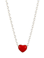 Women's Pendant Necklaces Jewelry Heart Sterling Silver Alloy Natural Chrismas Jewelry For Daily New Year
