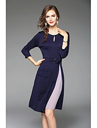 cheap -Women's Chic & Modern Sheath Dress - Color Block