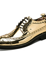 cheap -Men's Shoes Patent Leather Fall Winter Formal Shoes Oxfords For Casual Party & Evening Silver Black Gold