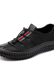 economico -Da uomo Scarpe Raso elasticizzato Di pelle Primavera Autunno Comoda Sneakers Più materiali Per Casual Nero Grigio