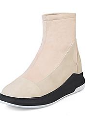 Недорогие -Для женщин Обувь Спандекс Нубук Дерматин Осень Зима Модная обувь Ботильоны Ботинки На танкетке На платформе Круглый носок Ботинки