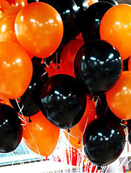 cheap -50Pieces Halloween Balloon Combo 10 Inches 2.2 Grams Of Inferior Smooth Thick Orange And Black Balloons