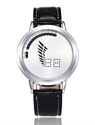 cheap -Men's Unique Creative Watch Casual Watch Digital Watch Chinese Digital LED Alloy PU Band Creative Casual Cartoon Minimalist Black Brown