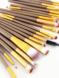 cheap -20PCS Pro Eyeshadow Makeup Brush Set Powder Foundation Eyeliner Concealer Lip Eyebrow Mascara Cosmetic Brush Set 3 Color
