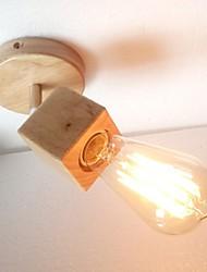 Недорогие -Модерн Настенные светильники Дерево / бамбук настенный светильник 220-240Вольт / E27