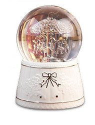 cheap -Balls Music Box Snow Globe Horse Carousel Classic Kid's Adults Kids Gift Unisex