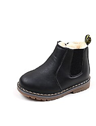 cheap -Girls' Shoes Leather / Customized Materials / Leatherette Fall / Winter Snow Boots / Fashion Boots / Bootie Boots Stitching Lace / Zipper