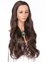 Недорогие -Синтетические кружевные передние парики Волнистый Природные волосы Коричневый Жен. Лента спереди Парик для Хэллоуина Знаменитый парик