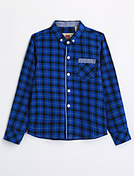 Boys' Houndstooth Shirt,Cotton Fall Long Sleeve
