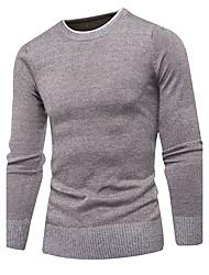 Corto Pullover Da uomo-Per uscire Casual Semplice Tinta unita A pois Girocollo Manica lunga Cotone Autunno Inverno Medio spessore