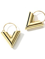 cheap -Women's Stud Earrings Drop Earrings Jewelry Fashion Personalized Silver Plated Gold Plated Triangle Shape Jewelry For Daily Office &
