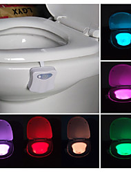 cheap -Bathroom Toilet Nightlight LED Body Motion Activated On/Off Seat Sensor Lamp PIR Toilet Night Light lamp