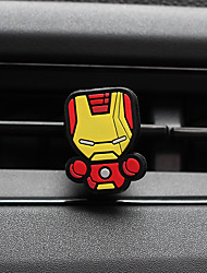 Car Perfume Ornament Superman Iron Man Creative Cartoon Silicone Automotive Air Purifier