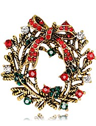 Муж. Жен. Броши Цветочный дизайн Цветы Мода Chrismas Цветочный принт Серебрянное покрытие Позолота В форме цветка Бижутерия Назначение