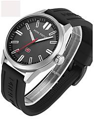 abordables -Hombre Mujer Reloj Deportivo Reloj Militar Reloj de Pulsera Japonés Cuarzo Cronógrafo Resistente al Agua Noctilucente Punk Silicona Caucho