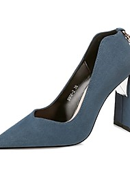 Women's Shoes Suede Fall Winter Basic Pump Heels For Party & Evening Dress Khaki Blue Red Black