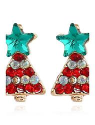 Women's Stud Earrings Hoop Earrings Cute Style Fashion Rhinestone Alloy Jewelry For Christmas Street