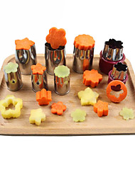 cheap -8pcs/Set Stainless Steel Puzzle Fruit Vegetable Cutter Mold Flower Shape Cookie Pastry Mould