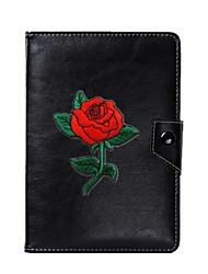 universel blomst pu læderstands cover til 7 tommer 8 tommer 9 tommer 10 tommer tablet pc