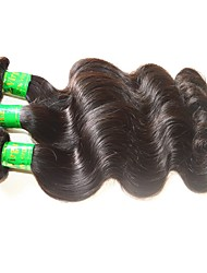 cheap -Indian Hair Body Wave Natural Color Hair Weaves Human Hair Weaves Natural Black Human Hair Extensions