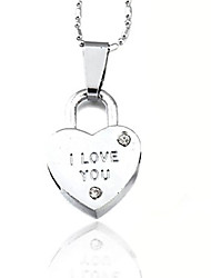cheap -Women's Heart Pendant Necklace - Love Heart Heart Necklace For Daily Casual
