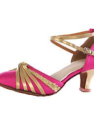 Women's Modern Paillette Customized Materials Heel Indoor High Heel Red Fuchsia Black Customizable