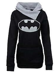 cheap -Women's Going out Hoodie Solid Letter Hooded Micro-elastic Others Long Sleeve Spring Fall
