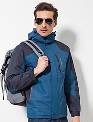 cheap -LEIBINDI Men's Hiking Down Jacket Outdoor Winter Windproof Wearable Stretchy Winter Fleece Jacket Top Single Slider Recreational Cycling