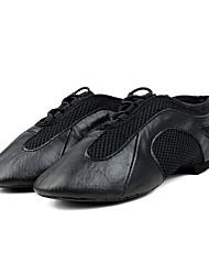"""Men's Jazz Cowhide Heel Training Low Heel Black Under 1"""" Customizable"""