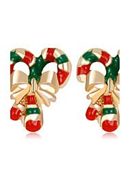 Femme Enfant Boucles d'oreille goujon Mode Noël Strass Alliage Bijoux Pour Noël Nouvelle Année