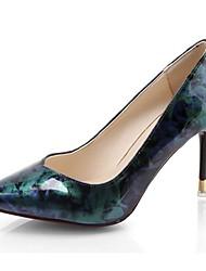 preiswerte -Damen Schuhe PU Sommer Pumps High Heels Stöckelabsatz Spitze Zehe Für Kleid Fuchsia Blau