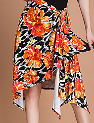 preiswerte -Für den Ballsaal Unten Damen Training Eis-Seide Muster / Druck Normal Röcke