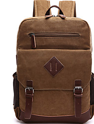 cheap -Men Bags Canvas Laptop Bag Zipper for Casual Outdoor All Seasons Blue Black Coffee Red Khaki