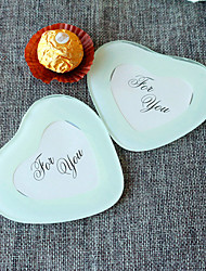 2pcs/set White Heart Shaped Photo Frame Coaster Beter Gifts® DIY Wedding Party Favors