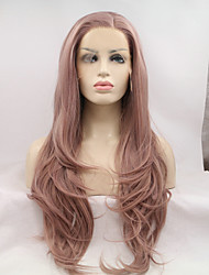 cheap -Synthetic Lace Front Wig Synthetic Hair Natural Hairline Wig Long Lace Front Lavender