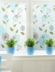 cheap -Trees/Leaves Window Sticker, PVC/Vinyl Material Window Decoration Living Room Bath Room Shop /Cafe Kitchen
