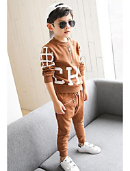 Boys' Print Clothing Set,Others Fall Brown Black