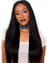 Women Human Hair Lace Wig Full Lace Wigs 180% Density Straight Wigs Indian Hair Black Long