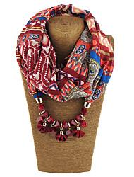 Femme Alliage Nylon Résine avec pince en métal Snood,Imprimé Toutes les Saisons